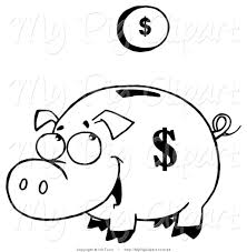royalty free coloring page stock pig designs