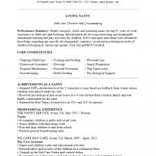 resume sample nanny resume a a cover letter
