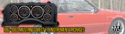 mustang custom gauges 87 93 fox mustang custom dash gauges cluster