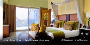 two bedrooms garza blanca resort two bedrooms luxury panorama casa bay villas