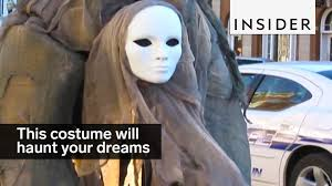 stilt costumes halloween this woman u0027s diy costume will haunt your dreams forever youtube