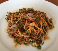 cuisiner les lentilles vertes salade de lentilles vertes carottes pommes radis etc veggie