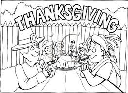 Thanksgiving Feast Clip Indians Clipart Thanksgiving Dinner Pencil And In Color