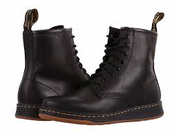 dr martens newton 8 eye boot mens black leather casual lace up