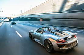 Porsche 918 Blue - shakedown cruise 1082 miles the first ever road trip in the