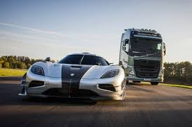 koenigsegg christmas koenigsegg agera one 1 takes on a u2026volvo big rig