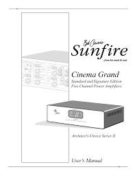 download free pdf for sunfire cinema grand series ii amp manual