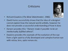 Richard Dawkins Blind Watchmaker Design Teleological Argument Ppt Online Download
