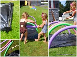 Backyard Activities For Kids Water Obstacle Course