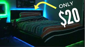 make your room look awesome led strip install on bed youtube