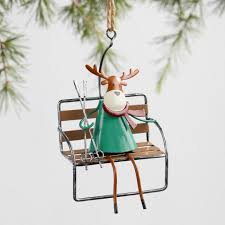 metal ski lift character ornaments set of 3 world market