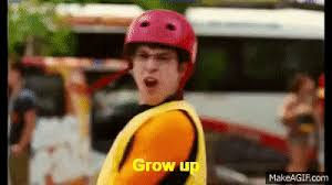 Grow Up Meme - inbetweeners 2 grow up scene on make a gif
