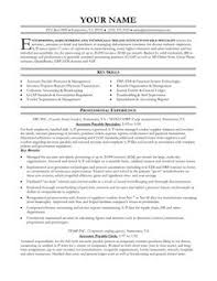 Accounting Job Resume Sample by Accounts Payable Resume Is Used To Apply A Job As Account Payable