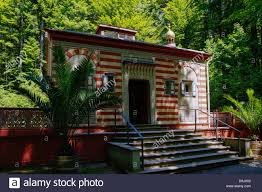 moroccan house at linderhof castle bavaria germany stock photo