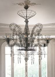 Black Chandelier Lighting by Iron Chandelier Gloria Fil De Fer Collection By Forestier Fonte