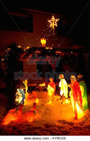 Outdoor Lighted Nativity Set - christmas nativity scene stock photos u0026 christmas nativity scene