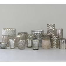 mercury tea light holders silver mercury glass votive holders r otm pinterest glass