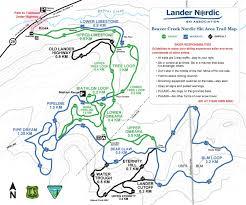 Bear Creek Trail Map Maps Lander Nordic Ski