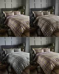 arran tartan 100 brushed cotton flannelette thermal duvet quilt