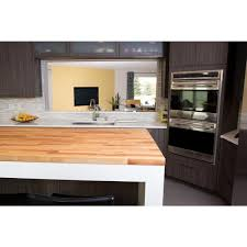 home depot kitchen cabinet tops hardwood reflections unfinished birch 6 17 ft l x 25 in d