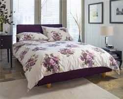 Purple Grey Duvet Cover White Duvet Cover With Purple Flowers 484