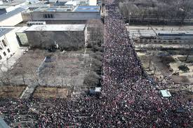 picture of inauguration crowd hey trump check out these yuge women u0027s march crowds across america