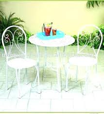 Bistro Patio Table And Chairs Set White Garden Bistro Set Metal Bistro Patio Furniture Set In White