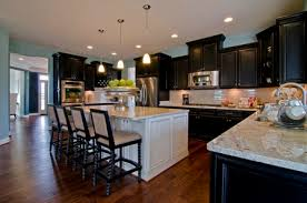 kitchen island different color than cabinets kitchens with two different colored cabinets at creighton