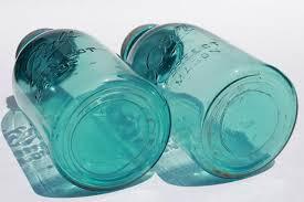 cobalt blue kitchen canisters aqua blue glass jars big two quart size