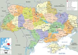 map ukraine detailed political map of ukraine ezilon maps