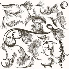 collection of antique ornaments for design stock vector