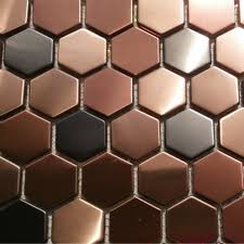 fine copper tiles for kitchen backsplash flexipixtilealuminum peel