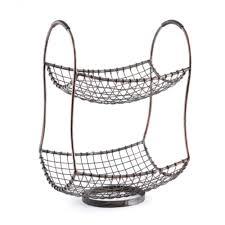 metal fruit basket metal wire 2 tier basket kirklands