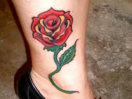 female leg tattoos 36 fancy rose tattoos on leg