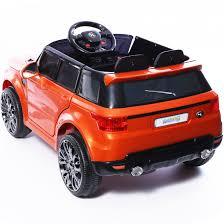 orange range rover evoque mini hse range rover style 12v child u0027s ride on jeep orange