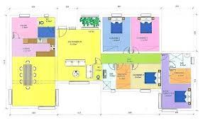 plan maison gratuit plain pied 3 chambres plan maison gratuit pdf plan de maison en u gratuit charmant