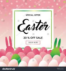 easter sale background template eggs bunny stock vector 618838601