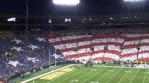 Green Bay Packers Flags Green Bay Packers Patriotic Card Stunt Nfl Kickoff Game 2011