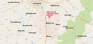 Richmond Ky Map Red House Homeschool Group Richmond Madison County Ky