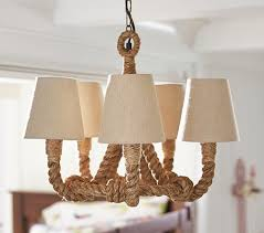 Nautical Rope Chandelier Nautical Rope Chandelier Look 4 Less And Steals And Deals