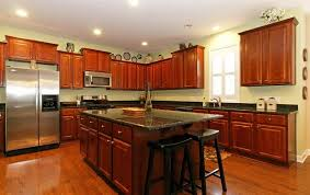 kitchen cabinets and countertops ideas cherry kitchen cabinets with granite countertops of cherry kitchen