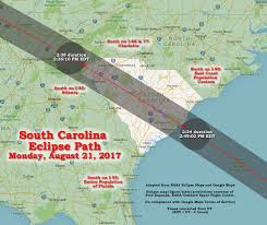 usa carolina map south carolina american eclipse usa