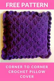 free crochet home decor patterns corner to corner crochet pillow cover free pattern crochet