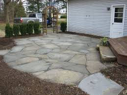 Irregular Stone Patio Backyard Flagstone Patio Ideas 102