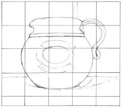 drawing and copying pictures using a grid