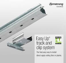 Ceiling Tile Installation Shop Armstrong Ceilings Easy Up 20 Pack 96 In Galvanized Steel