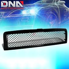 Dodge Ram Cummins Grill - for 94 02 dodge ram glossy black abs front bumper upper mesh grill