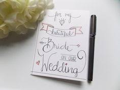 Card For Bride From Groom Card For Husband Card For Groom For My Husband Card Gift For