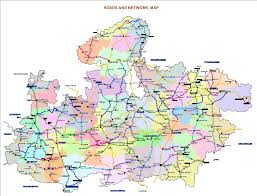 map in road maps govt of mp india