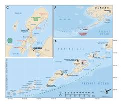 Aleutian Islands Map Aleutian Island Chain Map